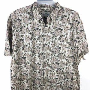 New! Island Shores Hawaiian Shirt Men XL Button